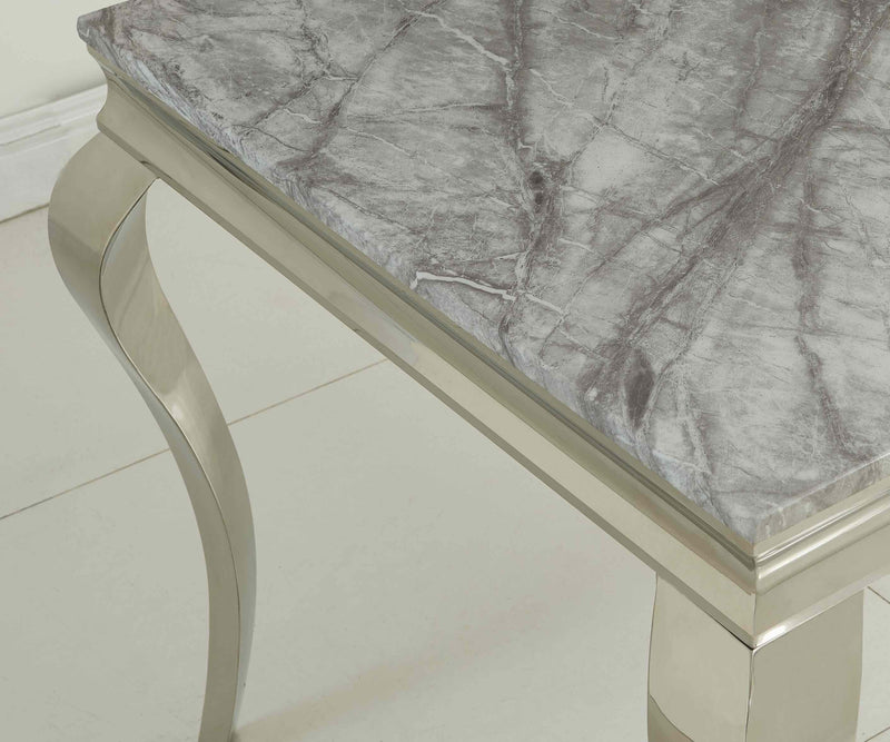 Liyana Louis 140cm Grey Marble Dining Table - ImagineX Furniture & Interiors
