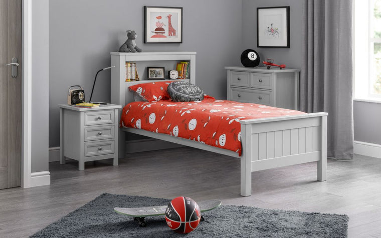 Julian BowenMaine Bookcase Bed - Dove Grey