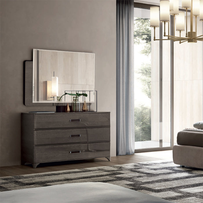 Maia Silver Birch High Gloss 3 Drawer Chest of Drawers - ImagineX Furniture & Interiors