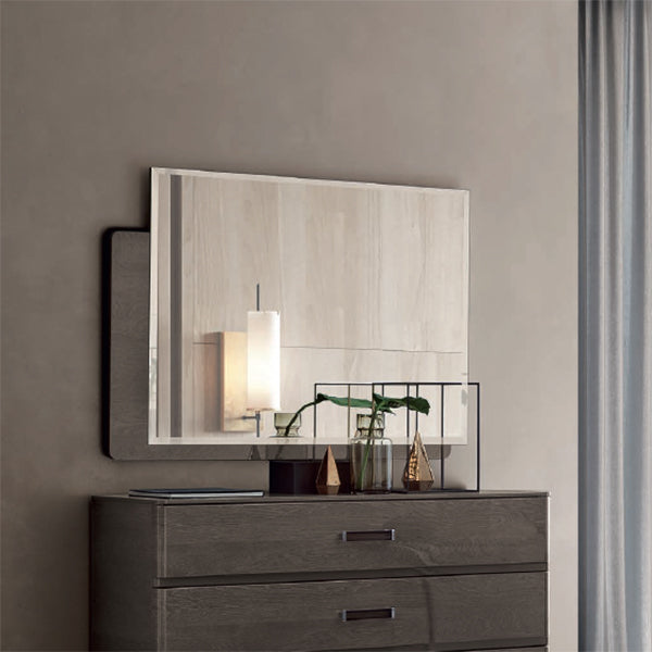Maia Silver Birch High Gloss Rectangular Mirror Only