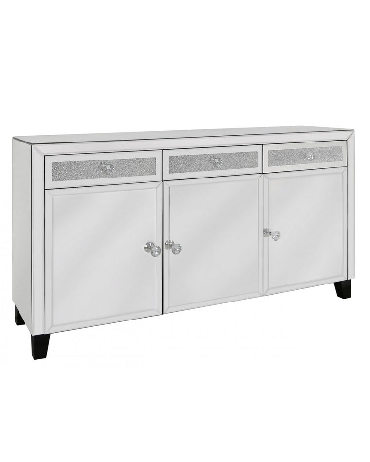 Milano Mirror 3 Drawer 3 Door Sideboard