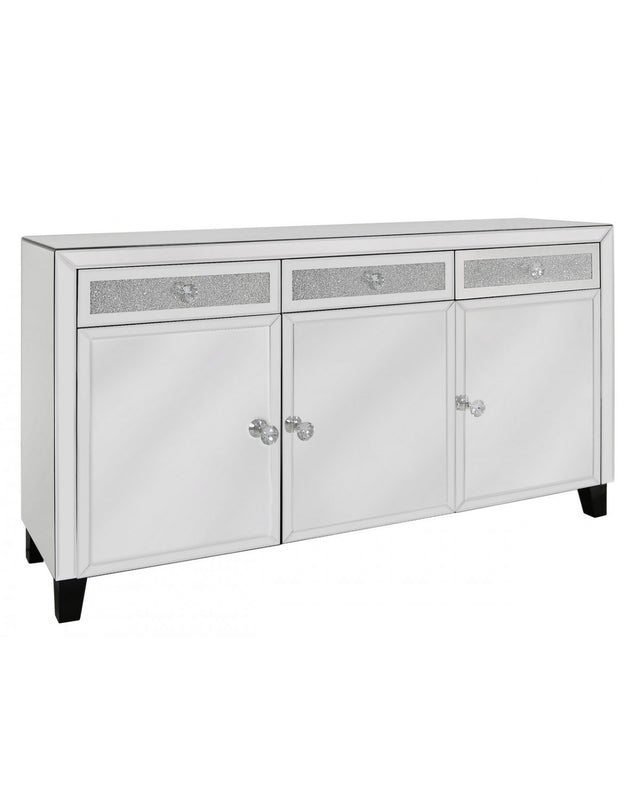 Milano Mirror 3 Drawer 3 Door Sideboard - ImagineX Furniture & Interiors