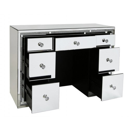 Milano Mirrored 7 Drawer Dressing Table - ImagineX Furniture & Interiors