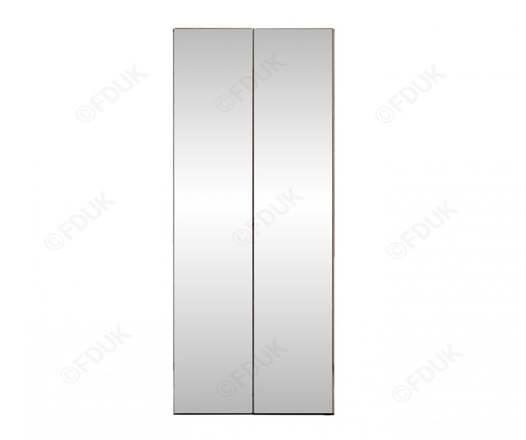 Platinum Night High Gloss 2 Door Mirror Wardrobe