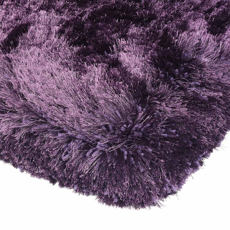 Plush Purple Luxury Shaggy Polyester Rug by Asiatic