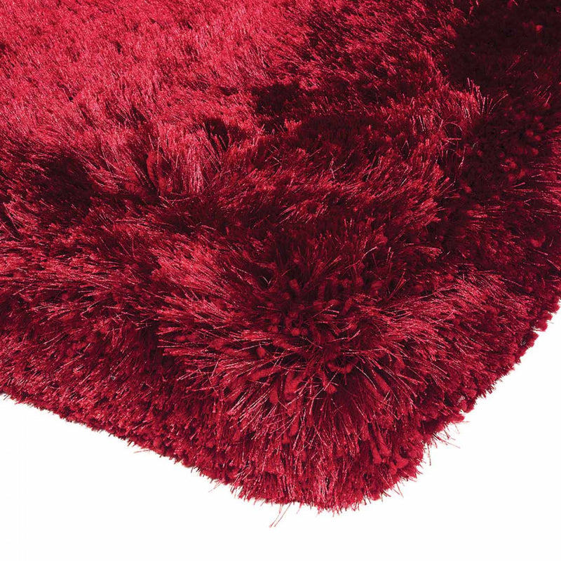 Plush Red Luxury Shaggy Polyester Rug by Asiatic - ImagineX Furniture & Interiors