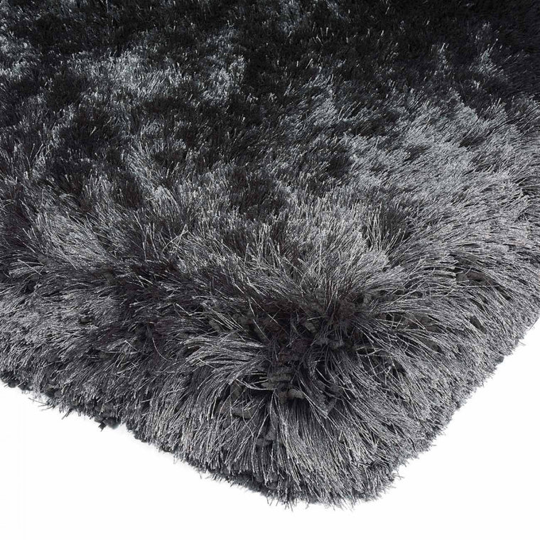 Plush Slate Luxury Shaggy Polyester Rug by Asiatic