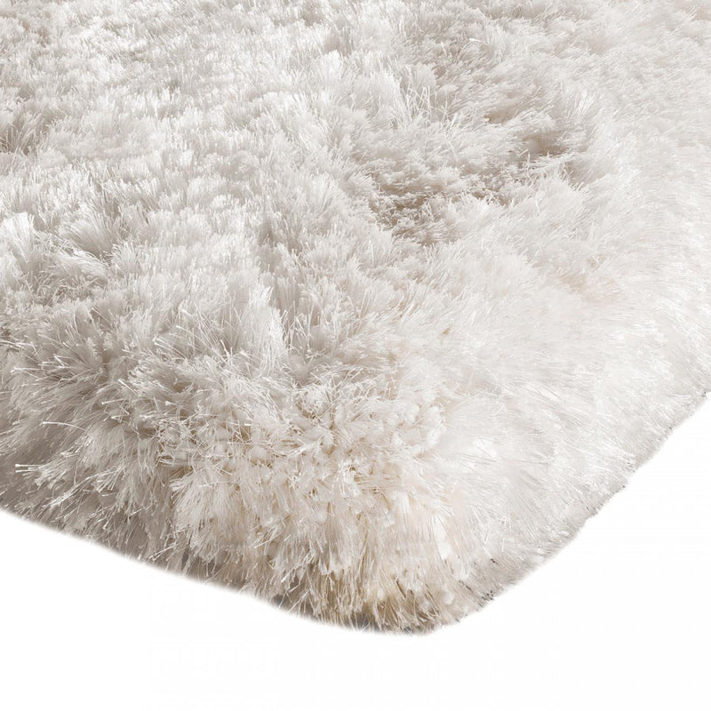 Plush White Luxury Shaggy Polyester Rug by Asiatic - ImagineX Furniture & Interiors