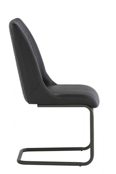 Ravello Grey Pu Leather Dining Chair