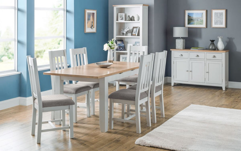 Julian Bowen Richmond 2 Tone Grey and White Dining Set and Living Room Range - ImagineX Furniture & Interiors
