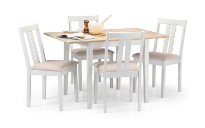 Julian Bowen Rufford 2 Tone Dining Table and Set - ImagineX Furniture & Interiors