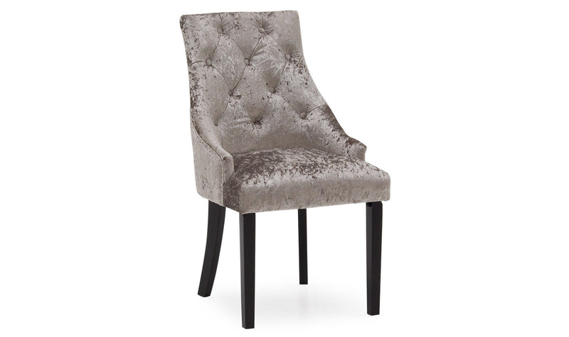 Hobbs Dining Chairs in Crushed Velvet/ Velvet/ Linen Fabric (Set of 2) - ImagineX Furniture & Interiors