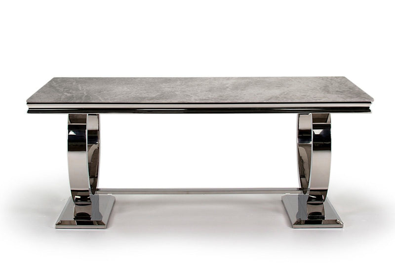 Arianna 200cm Grey Marble Dining Table - ImagineX Furniture & Interiors