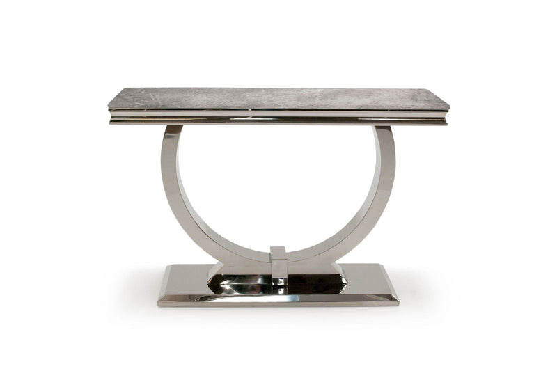 Arianna 120cm Grey Marble Console Table - ImagineX Furniture & Interiors