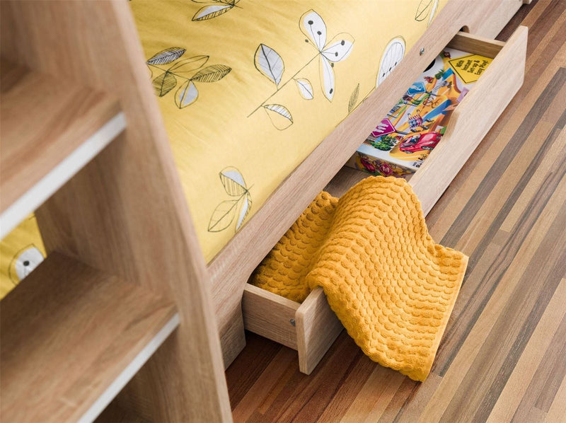 "Orion 3'0"" Single Bunk Bed with Drawers and Shelves - ImagineX Furniture & Interiors"