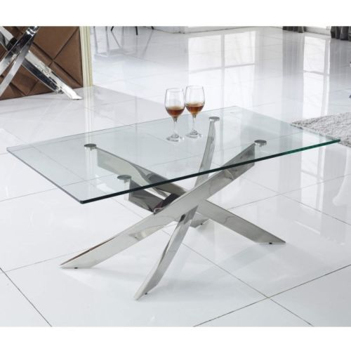 Kalmar Chrome Tempered Glass Coffee Table