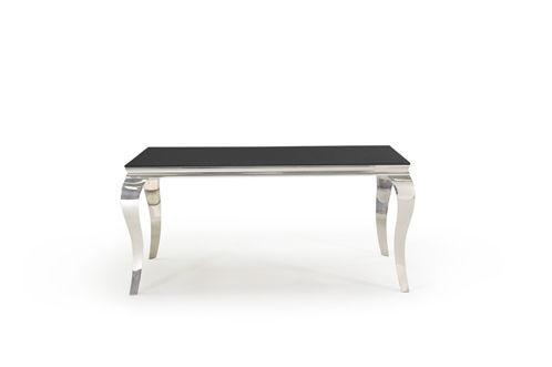 Louis Black Glass 160cm Dining Table Only - ImagineX Furniture & Interiors