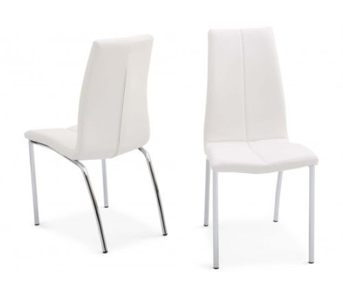 Blanca 120cm White High Gloss Dining Table + 4 Ava Dining Chairs in 4 Colours - ImagineX Furniture & Interiors
