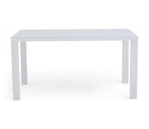 Blanca White High Gloss 150cm Dining Table + 4 Hugo Dining Chairs in 4 Colours - ImagineX Furniture & Interiors