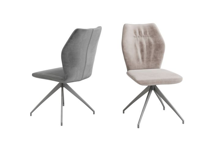 Sena Mink Velvet Dining Chair - ImagineX Furniture & Interiors