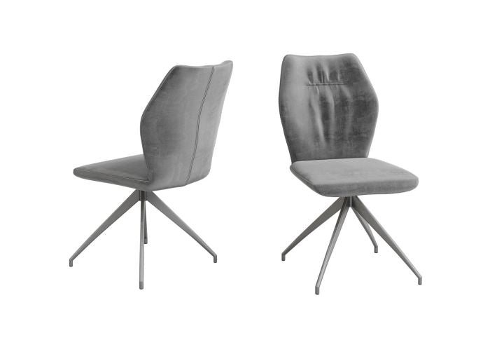 Sena Dark Grey Velvet Dining Chair - ImagineX Furniture & Interiors