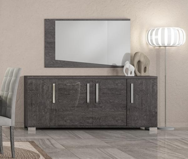 Sarah Grey Birch Italian 4 Door Sideboard