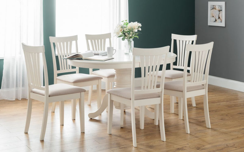 Julian Bowen White Stamford Dining Table Set - ImagineX Furniture & Interiors