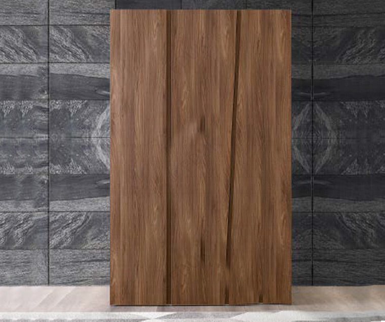 Storm Walnut Finish Italian 3 Door Wardrobe