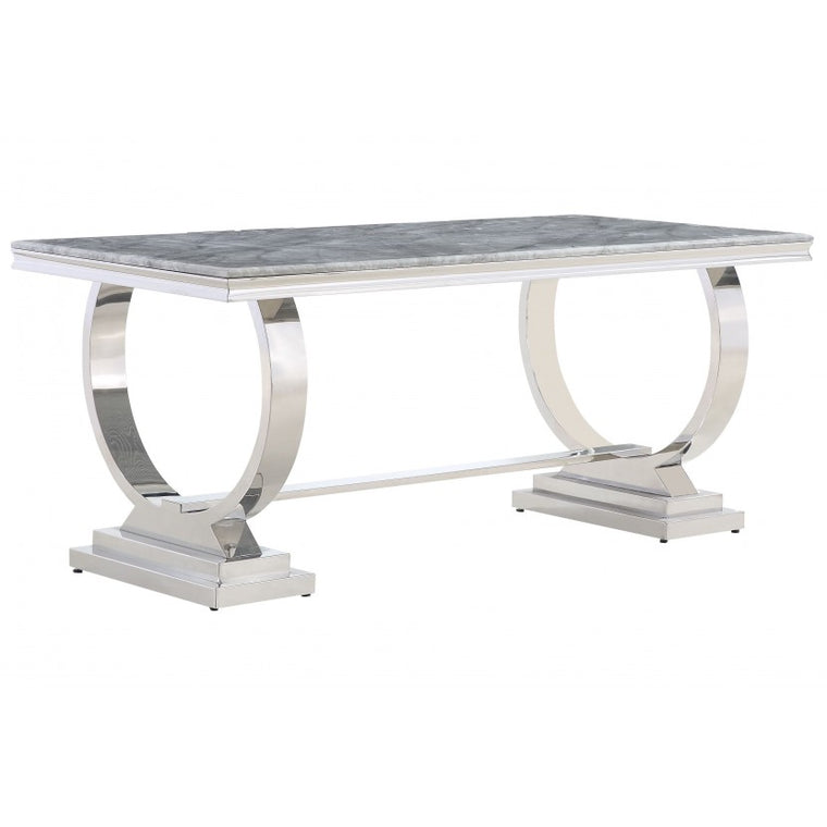 Venice 180cm Grey Marble Dining Table