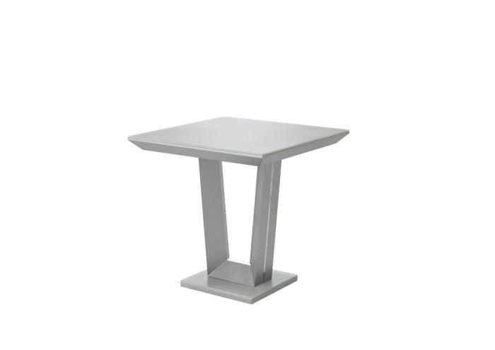 Vivaldi Matt Grey High Gloss Side Table - ImagineX Furniture & Interiors