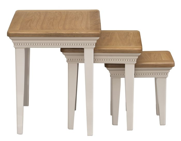 Winchester Silver Oak Nest Of Tables - ImagineX Furniture & Interiors