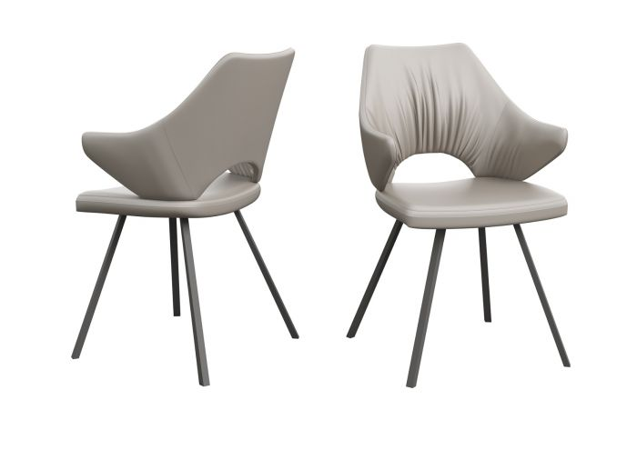 Zola Taupe Faux Leather Dining Chair - ImagineX Furniture & Interiors