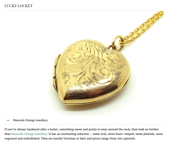 Lockets in Country and Town House