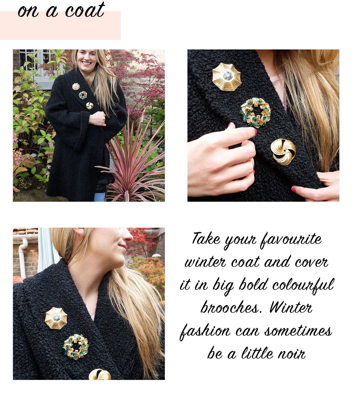 Vintage Brooch on a Coat