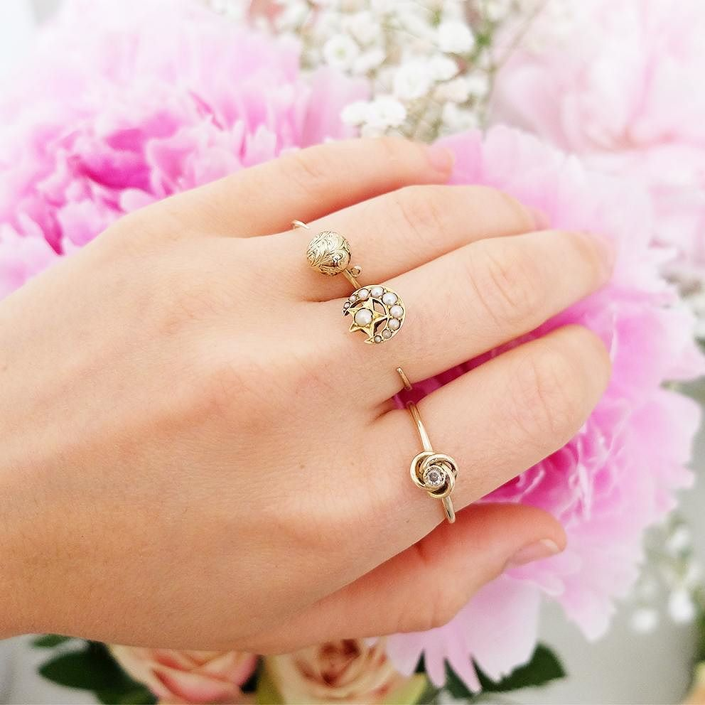 Antique Stick Pin Rings