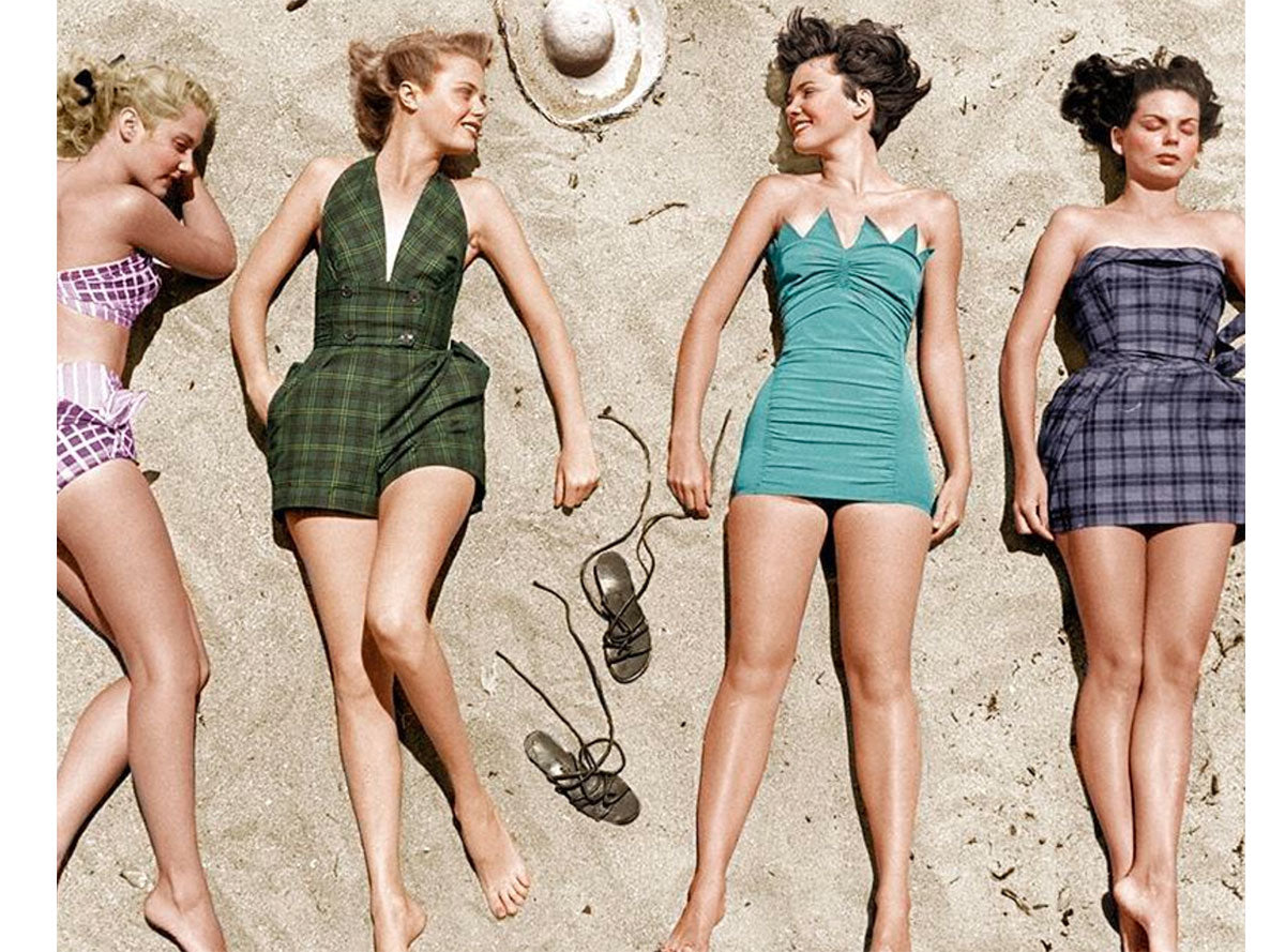 Vintage Women on Beach