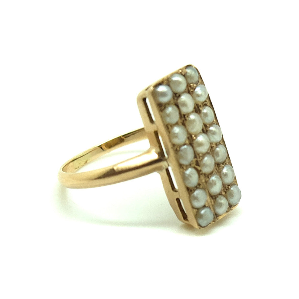 Seed Pearl Gold Ring