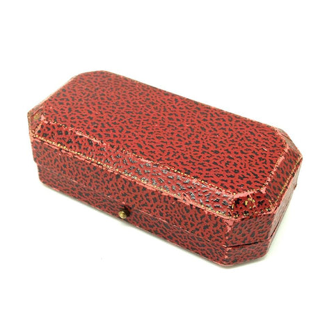 1920s Jewellery Box Vintage 1920s Art Deco Red Leather Jewellery Box