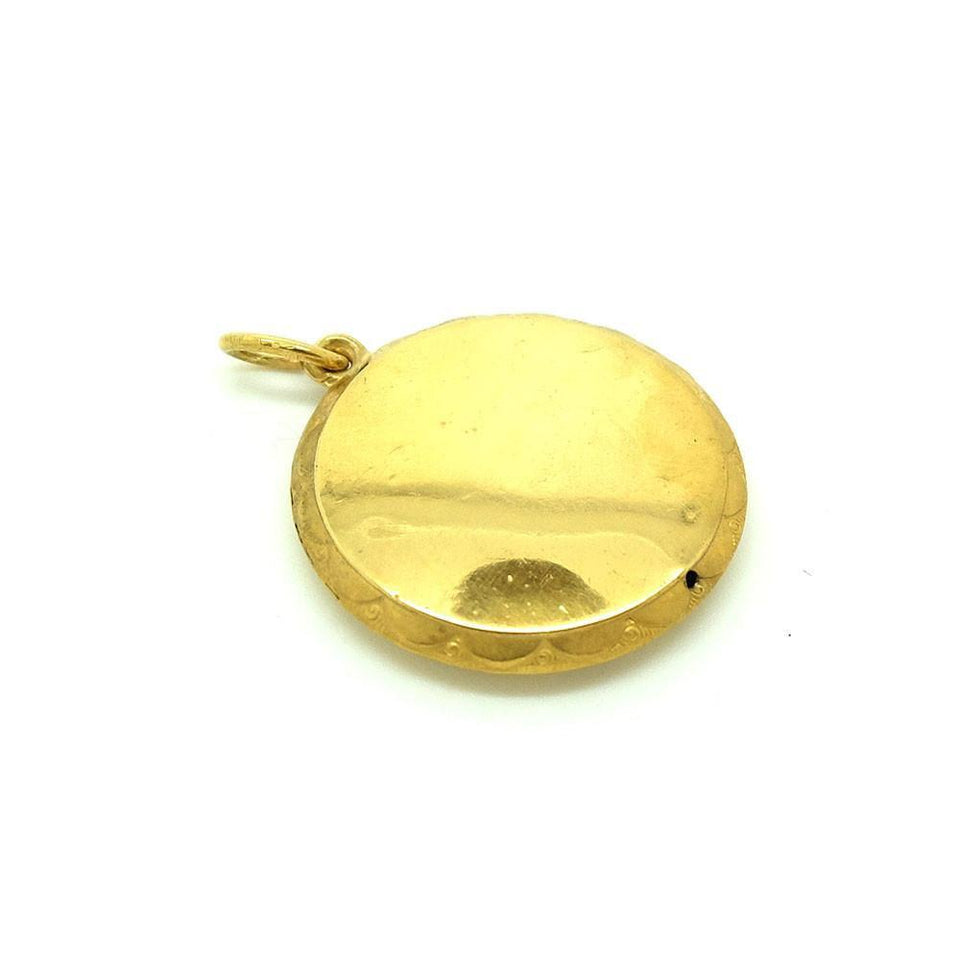 Vintage Art Deco 9ct Gold Plated Round Pendant
