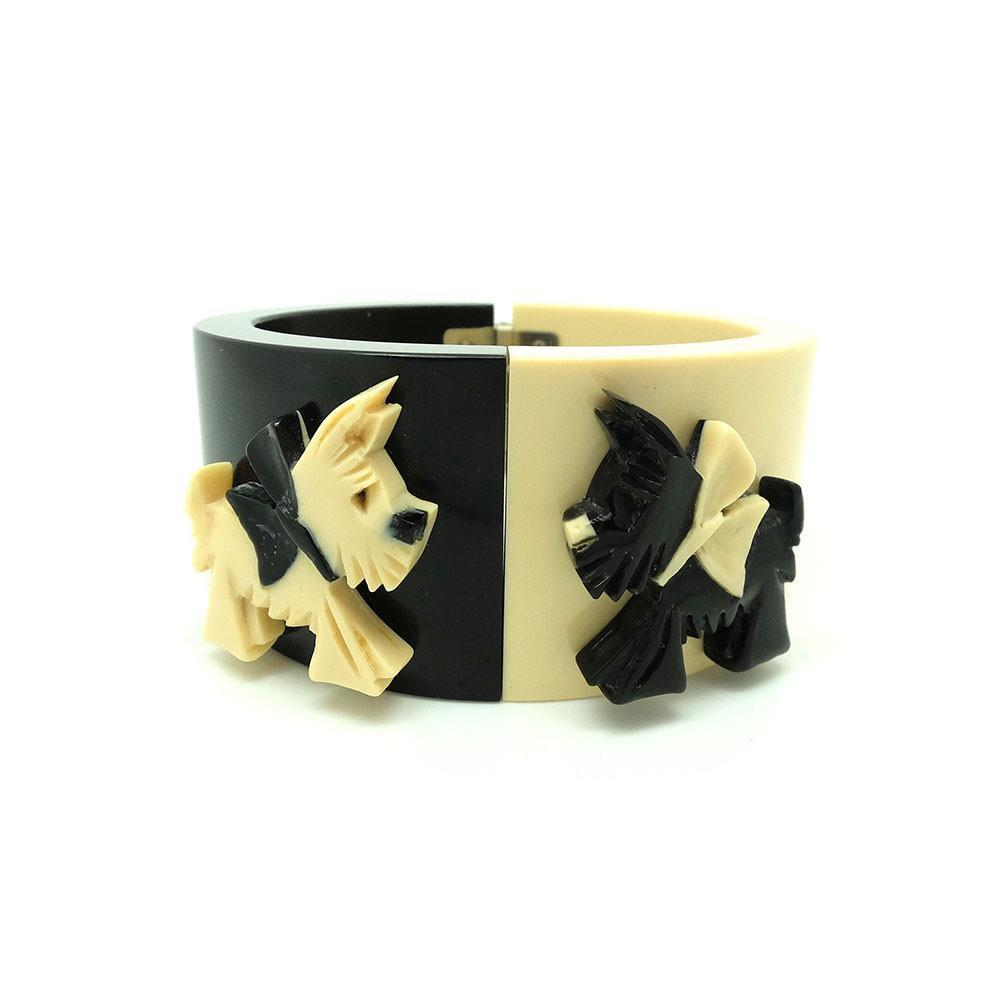 Vintage 1930s Bakelite Scottie Dog Bangle Bracelet