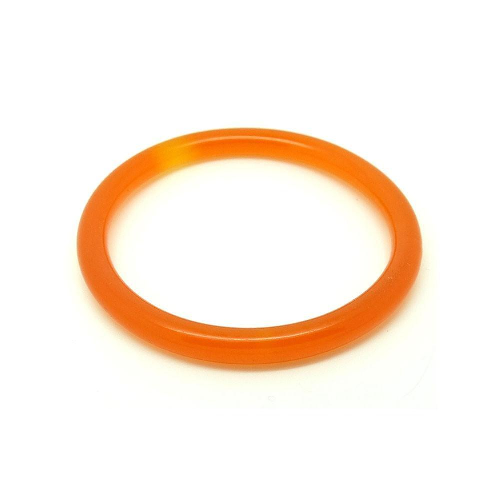 Vintage 1930s Egg Yolk Bakelite Bangle Bracelet