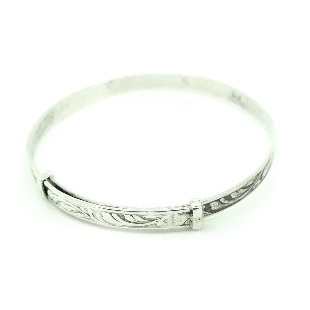 Vintage 1930s Small Sterling Silver Bangle Bracelet