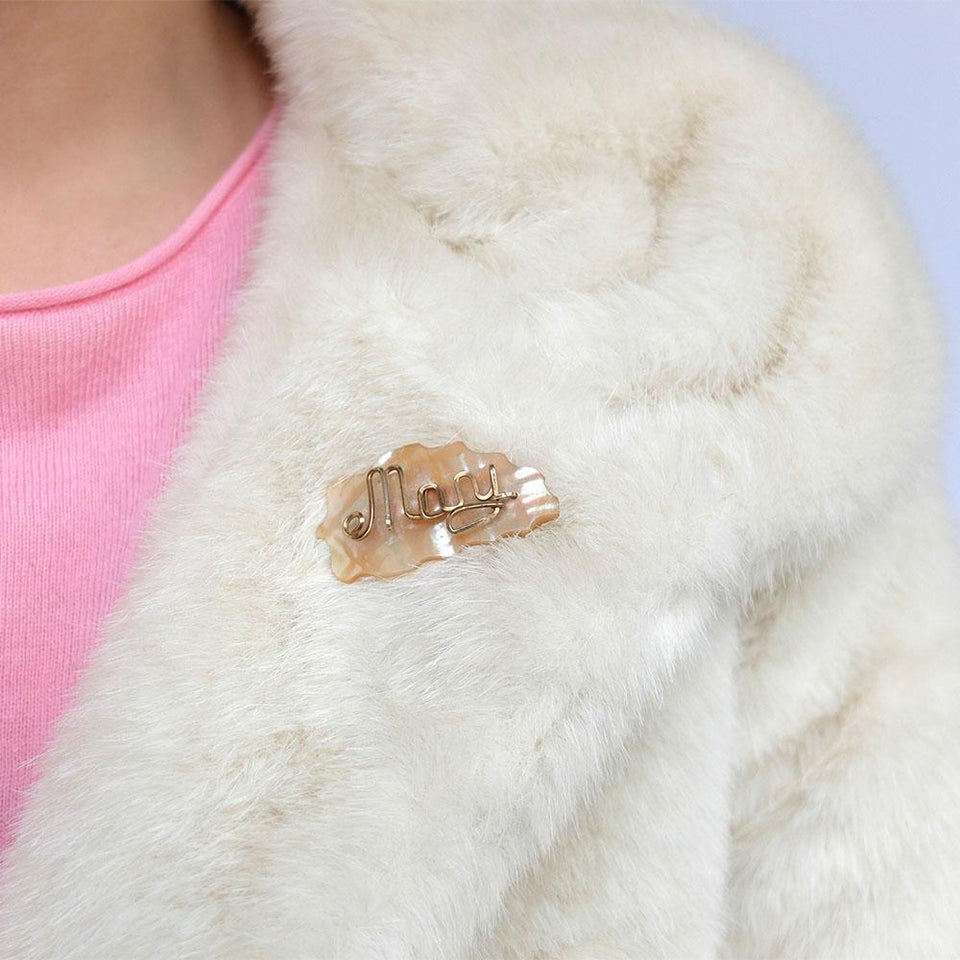 Vintage 1930s Mother of Pearl 'Mary' Brooch
