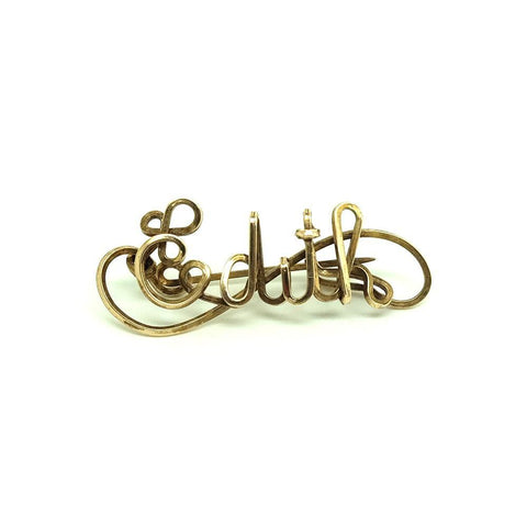Vintage 1930s Rolled Gold 'Edith' Brooch