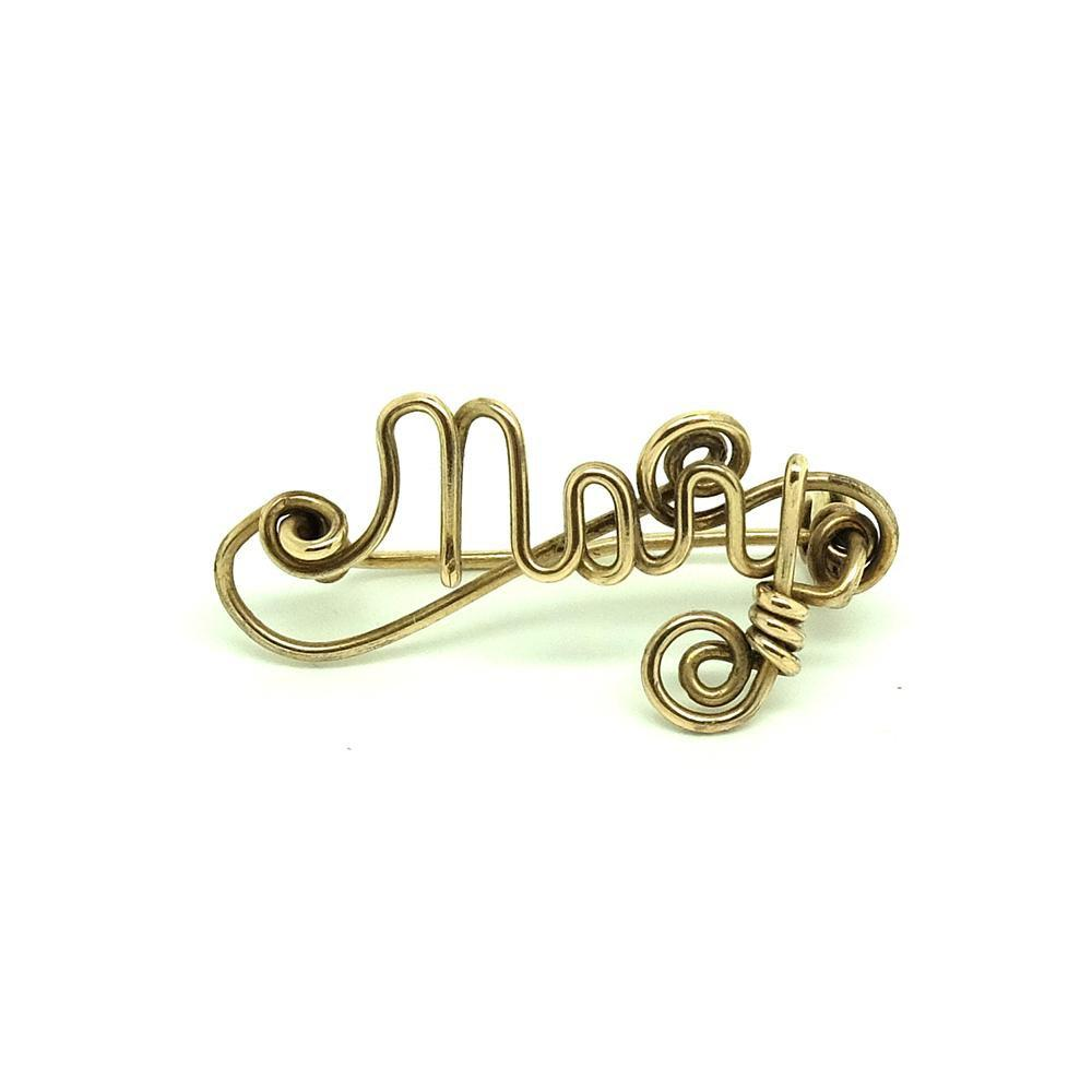 Vintage 1930s Rolled Gold 'Mary' Brooch