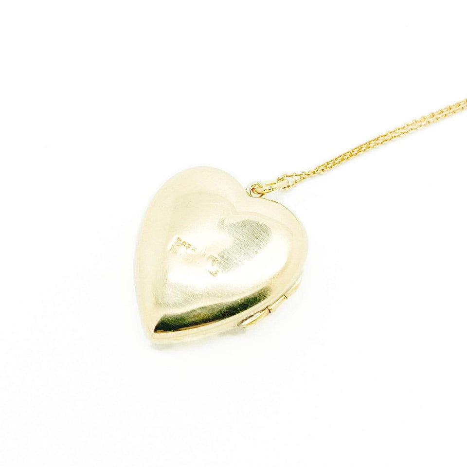 1930s Necklace Vintage 1930s 9ct Gold Heart Locket Necklace