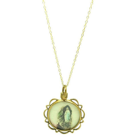 Antique Conch Shell Cameo Necklace