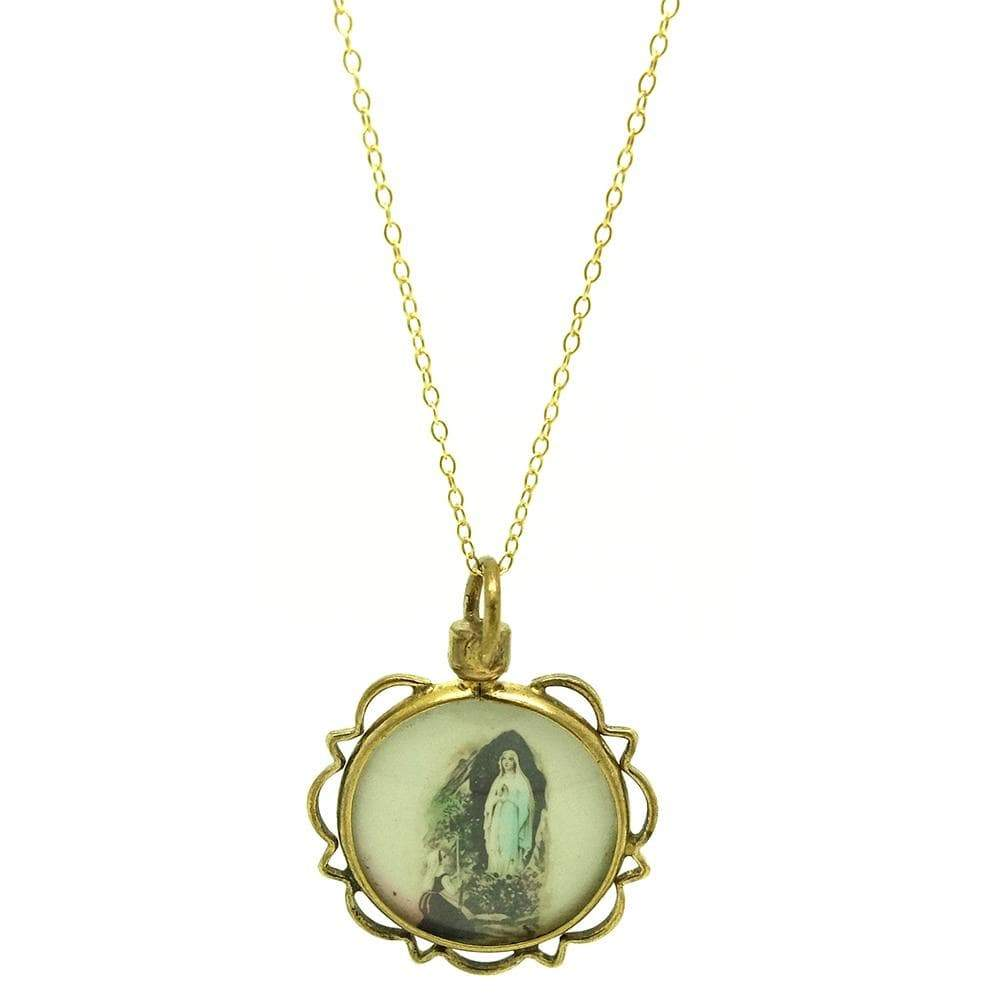 1930s Necklace Vintage 1930s Glass Locket Necklace