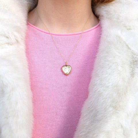 Vintage 1930s Gold Heart Locket Pendant