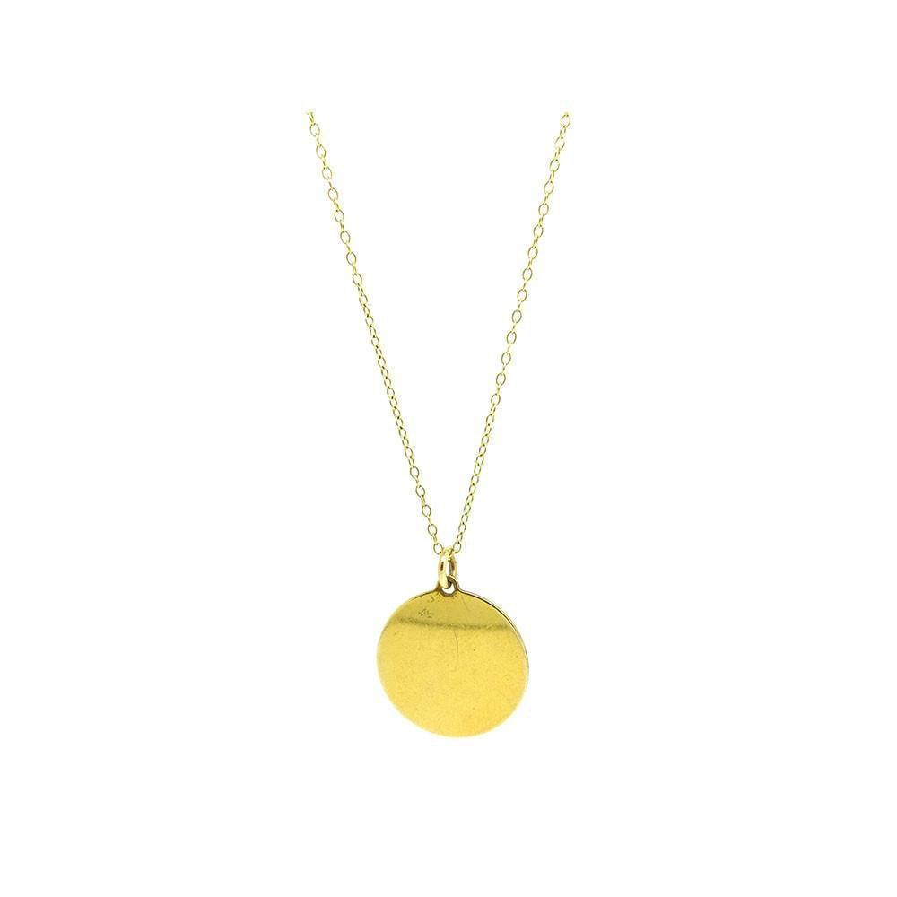 Vintage 1930s Rolled Gold Disc Necklace